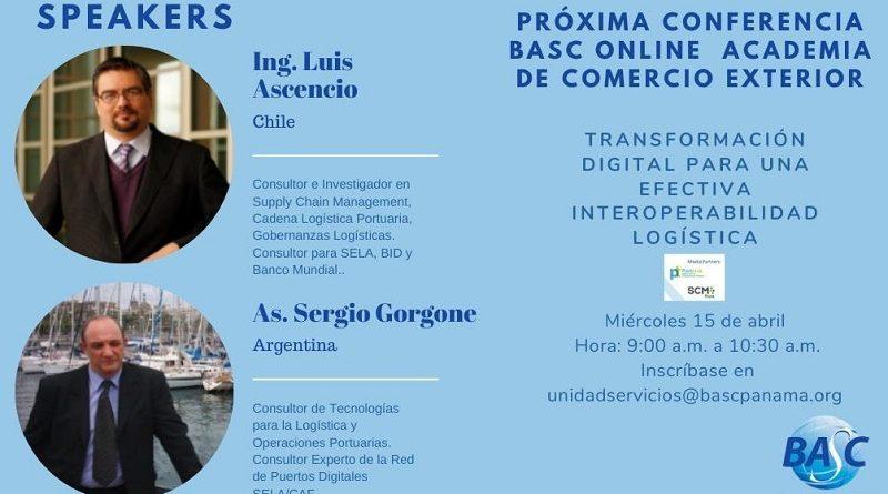 Conferencia BASC Online. Transformación Digital para una efectiva Interoperabilidad Logística