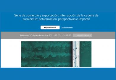15 de septiembre: Expertos abordarán la interrupción de la cadena de suministro, sus perspectivas e impacto